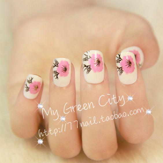 Aliexpress.com : Buy Dropshiping oval Short design false nail,Peach Blossom artificial nail tips, candy color fake nails,24 pcs,free shipping on Jessie's shop. $5.79
