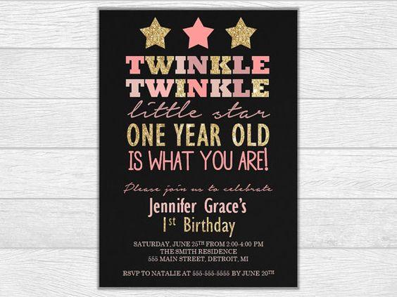 First birthday first birthday invitation by GlassJewelryCrafts