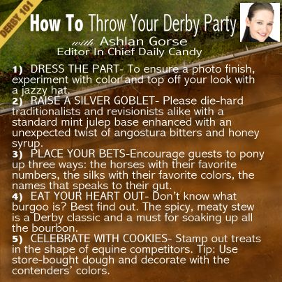How to Throw Your Own Kentucky Derby Party with Ashlan Gorse of E! News  For more #Derby101 insider tips, check us out on Facebook http://www.facebook.com/nbcsports  #kentuckyderby #derby #parties #entertaining