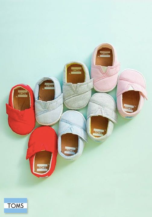 You don't have to learn how to walk before you learn how to give. Click to shop TOMS Crib Shoes.