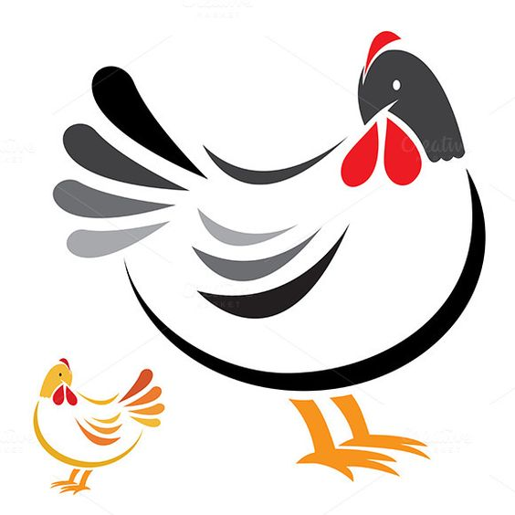 Vector image of an hen by yod67 on @creativework247