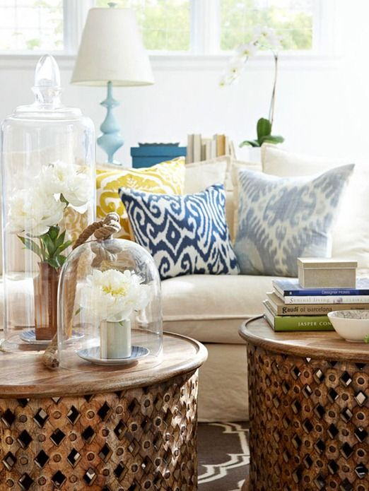 Patterned pillows are an inexpensive way to give a tired room fresh style. See Kate of Centsational Style's picks: http://www.bhg.com/blogs/centsational-style/2013/02/26/spring-sprucing-with-patterned-pillows/?socsrc=bhgpin022713patternpillows: