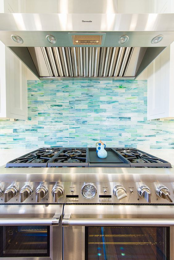turquoise sea inspired backsplash builder boy