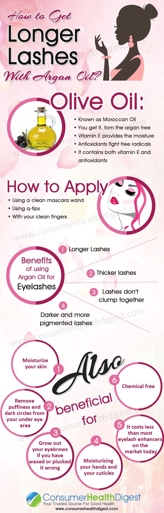 How To Get Longer #Eyelashes With #ArganOil. You can get ...