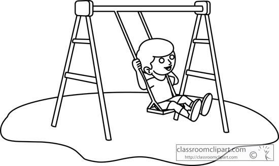 Image Result For Swing Black And White Clipart Black And White Art