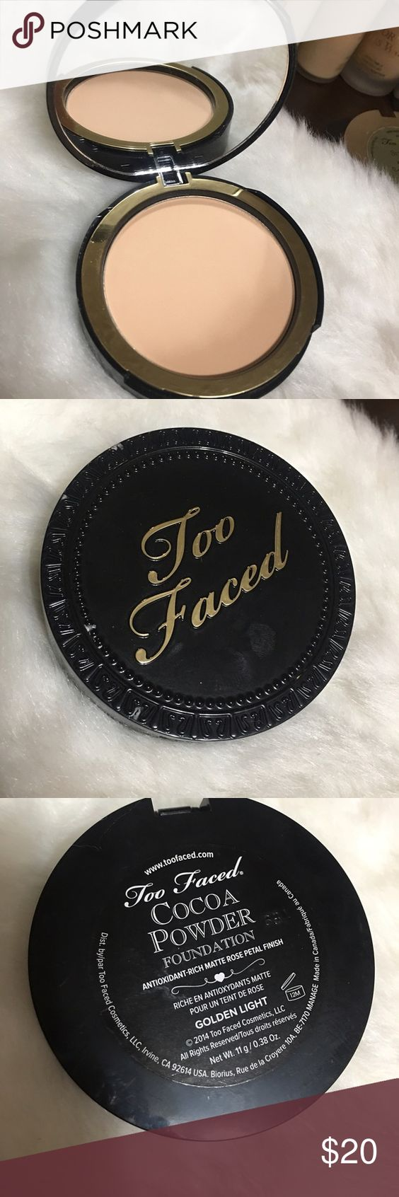 ▪️TOO FACED COCOA POWDER FOUNDATION ▪️ ▪️TOO FACED COCOA POWDER FOUNDATION ▪️shade: golden light ▪️never been used ▪️no box ▪️ Too Faced Makeup Foundation