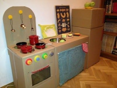 Cocina Para Ninos Con Cajas De Carton Buscar Con Google Cocina De Carton Juguetes De Carton Juguetes Para Ninas
