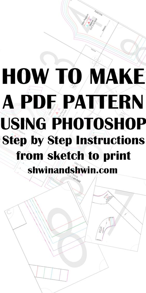 How to make a PDF Pattern in Photoshop |  Best Free Online PDF Sewing Patterns | Downloadable Sewing Patterns