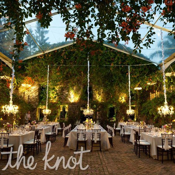 Outdoor Wedding Venue Decorations: Hawaiian Garden Destination Reception // Photographer