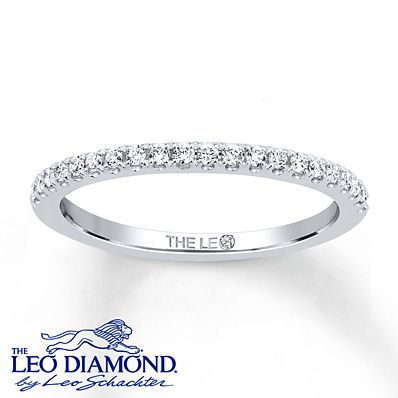 Leo Wedding Band 1/5 ct tw Diamonds 14K White Gold perfect to match my Leo engagement ring