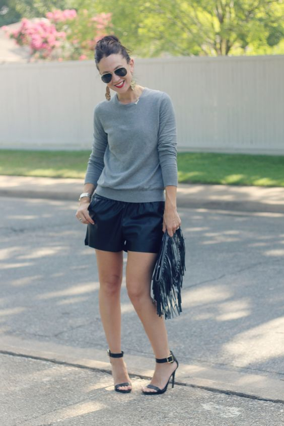 style | the leather short