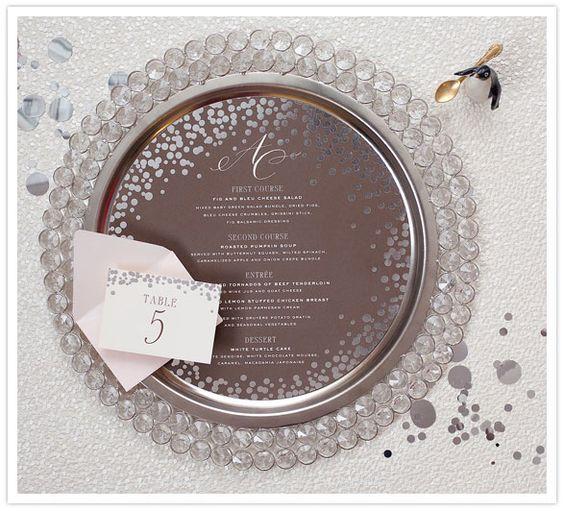brown wedding menu
