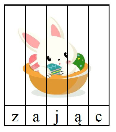 puzzle literowe wielkanoc przedszkole
