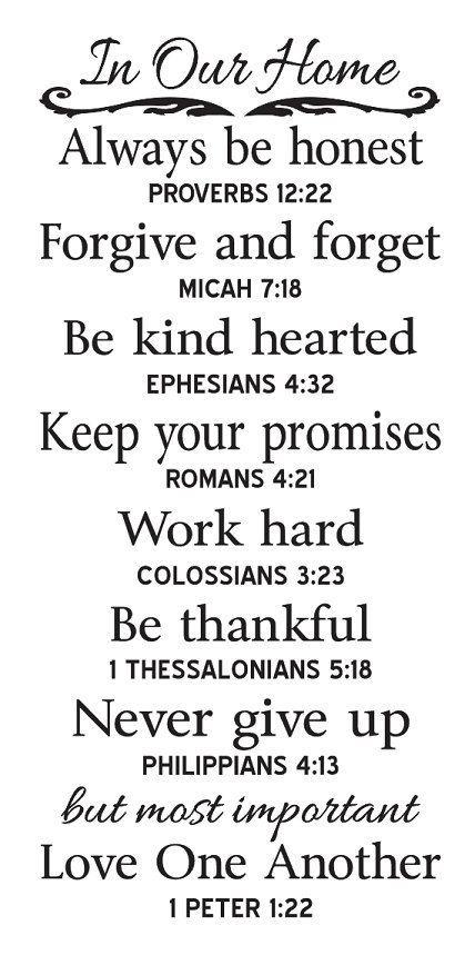 Me gustaría hacer esto por mi gran pizarra.  .  .  PLANTILLA primitivo en nuestra casa Reglas familiares con Bible Verses por OaklandStencil, $ 21.95: