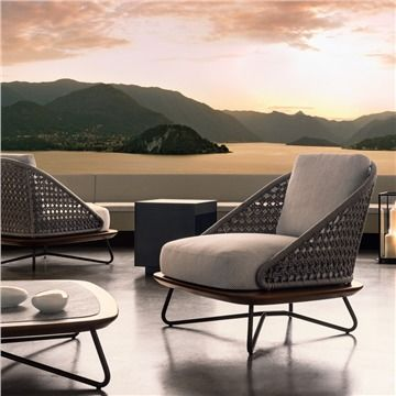 Minotti Rivera Armchair Style RiveraArmchair Modern Outdoor Lounge Chair