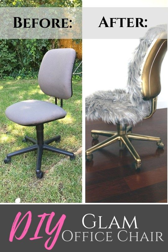 Diy Faux Fur Chair A Gold Glam Repurposed Project Office