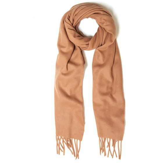 Acne Studios Brown Canada Fringed Wool Scarf ($170) ❤ liked on Polyvore