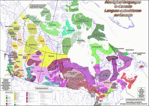 Aboriginal Languages In Canada Map Indigenous languages of Canada | Aboriginal language, Map, Linguistics