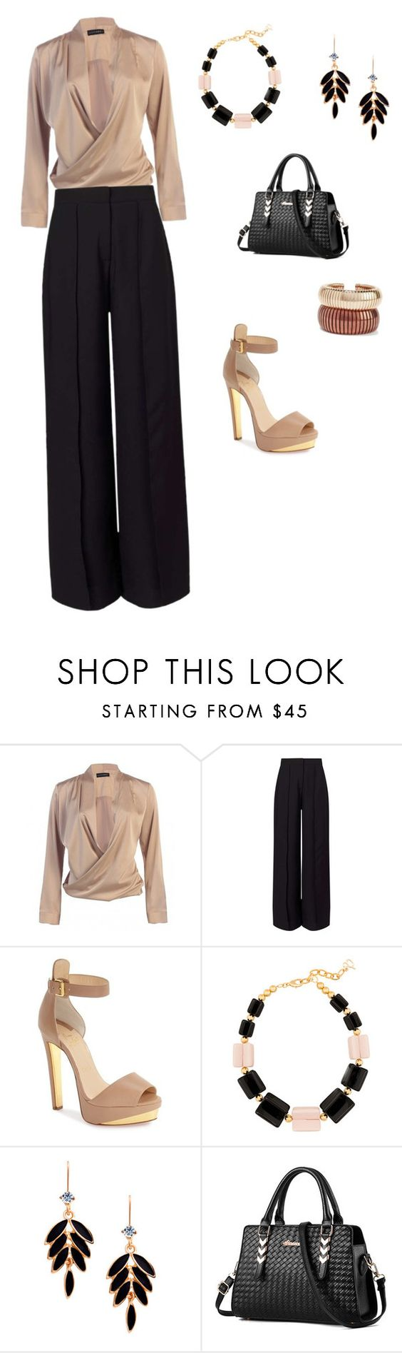 """Untitled #8"" by gabbylara ❤ liked on Polyvore featuring Miss Selfridge, Christian Louboutin, DIANA BROUSSARD and Rosantica"