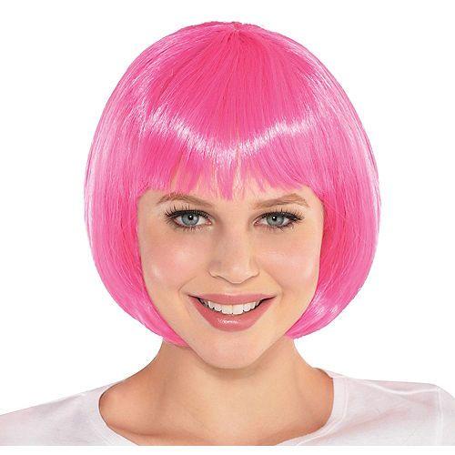 Pink Bob Wig Party City Cabello Monos