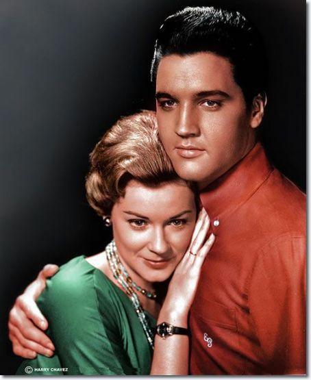 Elvis Presley - Hope Lange.  Lange appeared as Elvis Presley's older psychologist love interest in Wild in the Country in 1961.