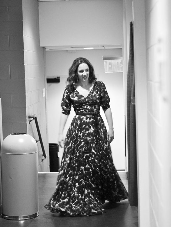 In costume, Jessie Mueller makes her way to the stage for her first scene.   Backstage with Jessie Mueller & the Cast of Beautiful