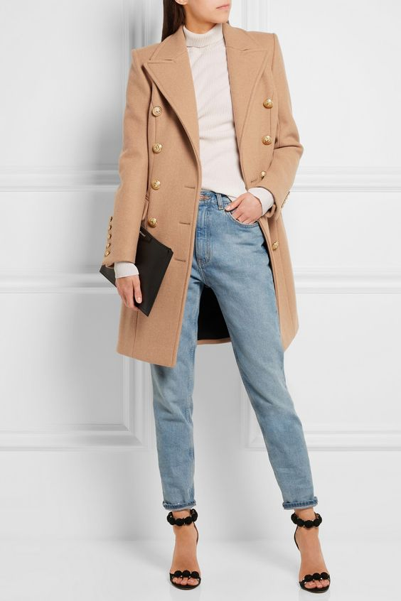 Balmain | Double-breasted wool and cashmere-blend coat | NET-A-PORTER.COM