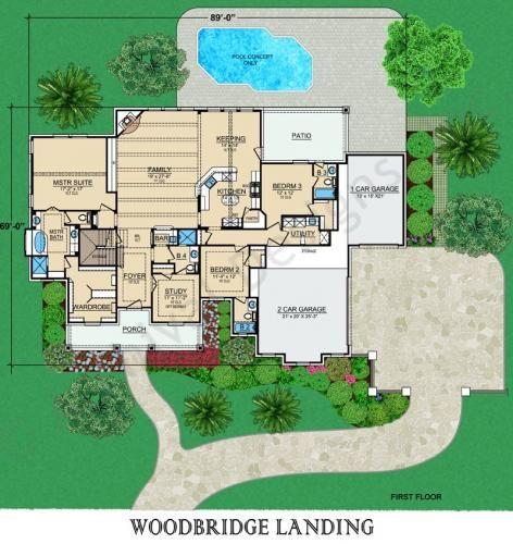Woodbridge landing house plan home plans house plans for Affordable luxury house plans