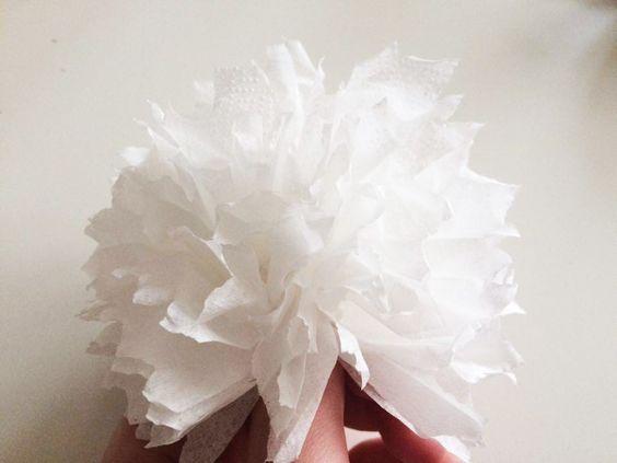 Diamantová svatba: Květiny z ubrousků – Kreativní Brabec
