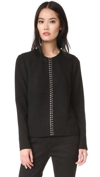 ALEXANDER WANG Ring Piercing Pullover. #alexanderwang #cloth #dress #top #shirt #sweater #skirt #beachwear #activewear
