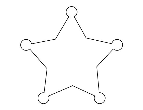 Sheriff Star Pattern Use The Printable Outline For Crafts Creating