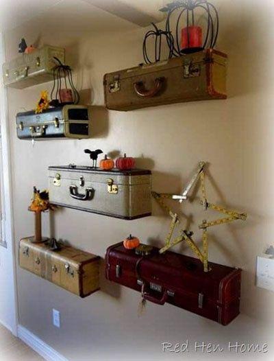 http://fashion881.blogspot.com - Suitcase shelves