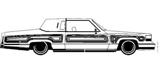 Cadillac Car Coloring Pages : Cadillac lowrider coloring page art activities