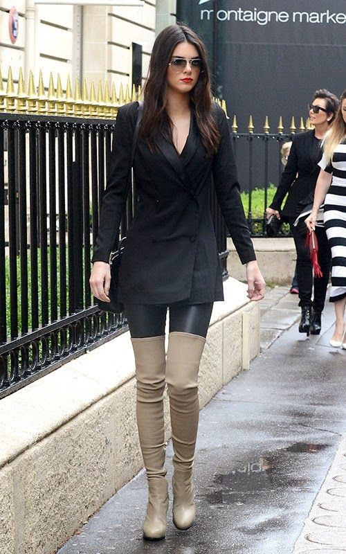 classy way to wear thigh high boots - Style: thigh high boots ...
