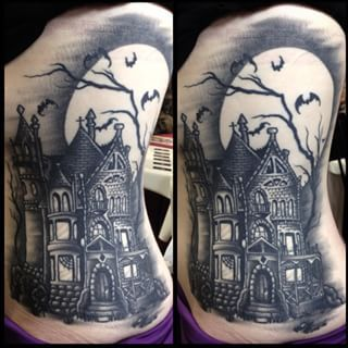 https://www.google.com/search?q=haunted house tattoo