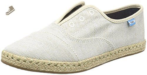 Toms Women's Palmera Yarn Dye Natural Ankle-High Fabric Flat Shoe - 6.5M jlzDr