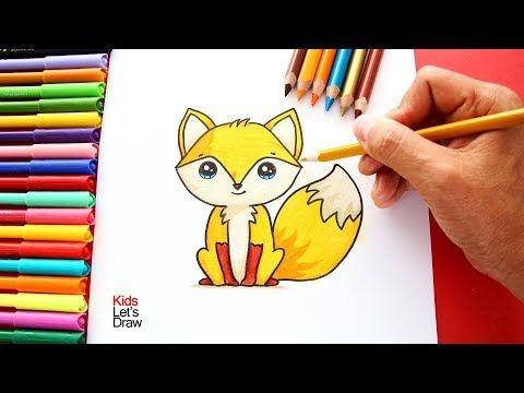 Como Dibujar Y Colorear Un Zorro Kawaii Aprender A Dibujar