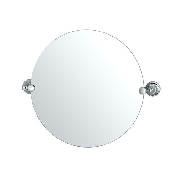 Gatco GC4329R Round Mirror from the Tiara Series Chrome Home Decor Mirrors Plumbing