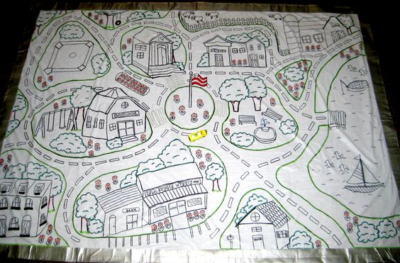Shower Curtain Road and Town Floor map: