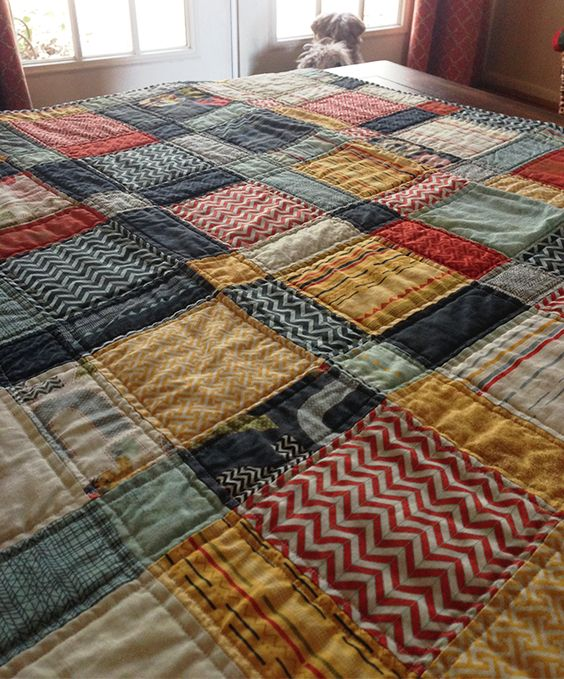 pb&j disappearing 9-patch baby boy quilt | bright linen
