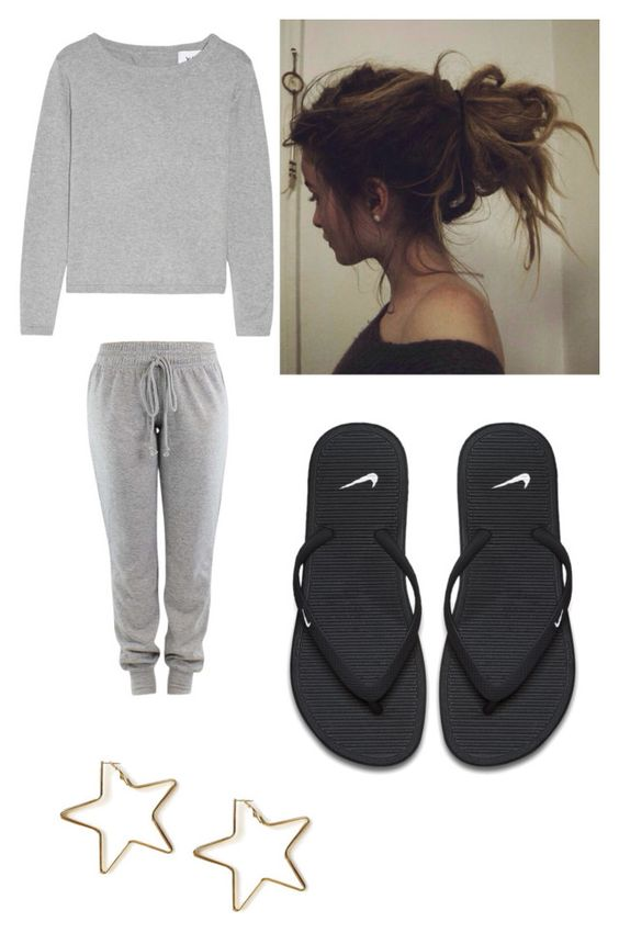 """😋😋😋😋"" by karinacabrera ❤ liked on Polyvore featuring NIKE and Tuleste"