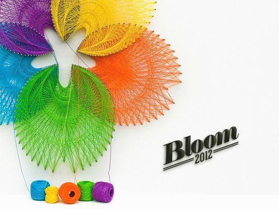 bloom - thread art