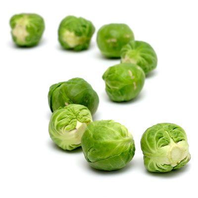 place olive oil in a pan, medium heat, cut your brussel sprouts in half, place in pan, add some salt pepper and garlic, stir fry until a light brown color...YUM!