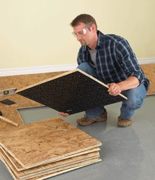 Make subfloor easier with pre-cut pieces.
