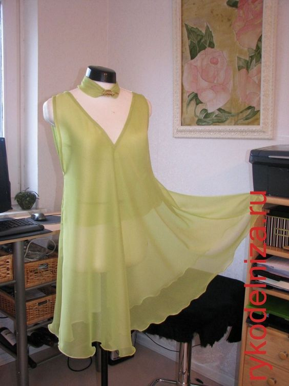 Платье без выкройки за 5 минут — вдохновение рукодельницы