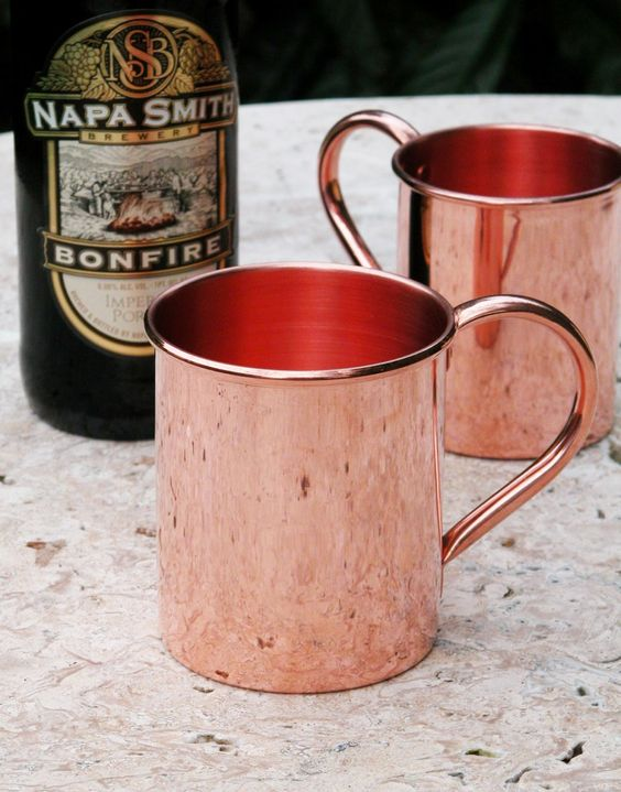 For thousands of years, people have been utilizing a simple, practical and effective method of drinking water in it's most holistic way...drinking water from a copper cup or large copper vessel where water is stored. ~ Benefits from drinking from copper mugs include preventing aging, Copper can destroy undesirable virus and bacteria. When Copper dissolves in water, water becomes ionic (electrolyte) as can be ascertained by its pH measurement. That is the reason the micro-organisms get killed…