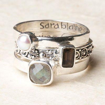 Bali Scroll: Labradorite Stacking Rings: Pretty Rings, Labradorite Stacking, Silver Rings With Stones, Bali Scroll, Beautiful Rings, Stacking Rings, Scroll Labradorite, Jewelry Rings