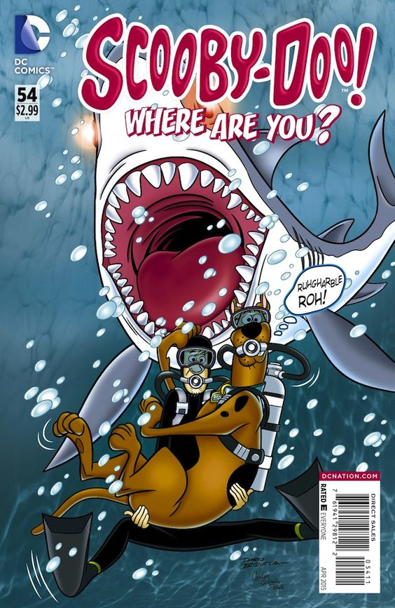 Scooby-Doo, Where Are You? #54 (2015).  Cover art: Dario Brizuela.  The Best UNDERWATER Comic Book Covers -  A collection of some of the top underwater comic book covers ever created.
