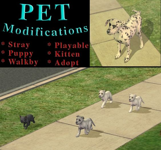 ModTheSims - Pet modifications *UPDATED to v1.2* -- Not recommended, just not quite my cup of tea.