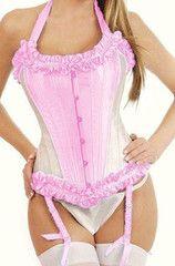 Atomic Pink Tie Strap Burlesque Corset | Atomic Jane Clothing www.atomicjaneclothing.com